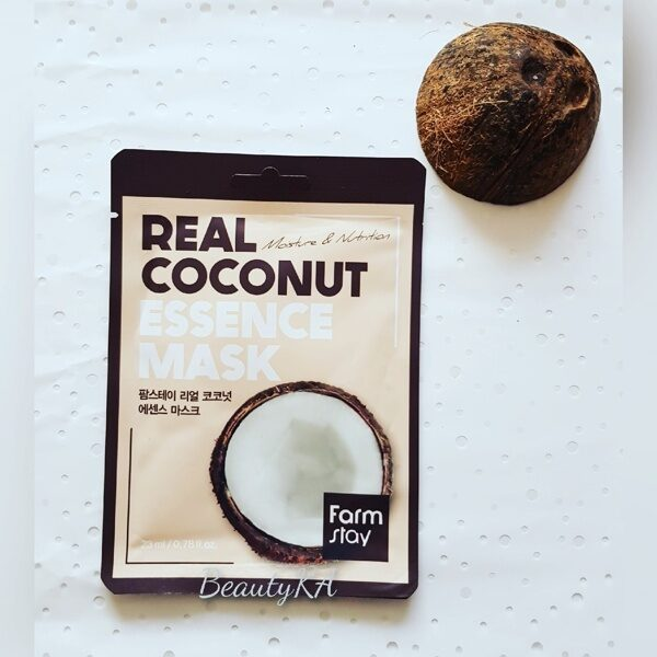 Маска для лица тканевая с экстрактом кокоса FarmStay Real Coconut Essence Mask