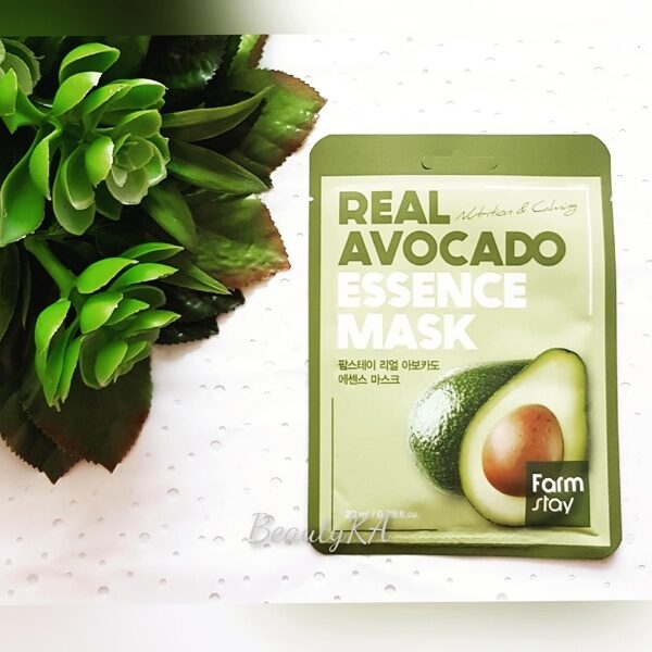 Маска для лица тканевая с экстрактом авокадо FarmStay Real Avocado Essence Mask